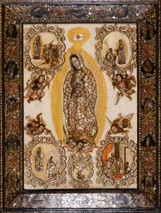 The Virgin of Guadalupe (Virgen de Guadalupe) | LACMA Collections(NOTE: Click MORE under curator notes for full discussion.) The Virgin of Guadalupe (Virgen de Guadalupe). Miguel González. c. 1698 C.E. Based on original Virgin of Guadalupe. Basilica of Guadalupe, Mexico City. 16th century C.E. Oil on canvas on wood, inlaid with mother-of-pearl.
