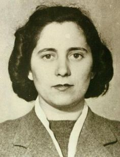 """Andrée Borrel (1914-1944) joined the French Resistance helping British airmen shot down over France to escape through the """"underground railway"""" back to Britain. Later she became the first female agent of the SOE to be parachuted into Occupied France during WWII, to become part of Francis Suttill's Prosper network. Suttill was impressed with Borrel's performance and in the spring of 1943 she was made second in command of the Paris network. She was arrested 23 June 1943"""