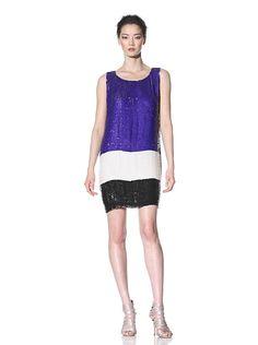 Alexia Admor Color Block Sequin Dress