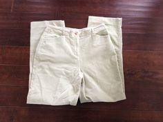 Talbots Women Light Green Stretch Corduroy Pants Size 10 #Talbots #Corduroys