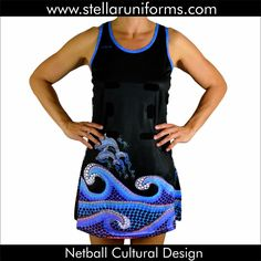 "Netball A-Line Dress. Aboriginal. Cultural Design. Artwork re-created from the original painting by ""Noni Art and Design."""