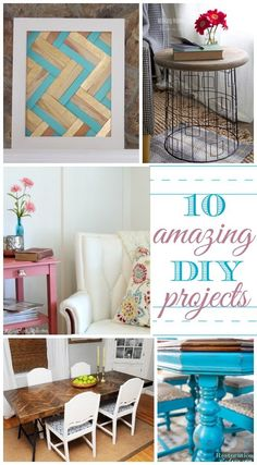 10 Amazing DIY Projects by Bloggers. That table! It's made from an old door and paint sticks. Lots of other creative hacks included.