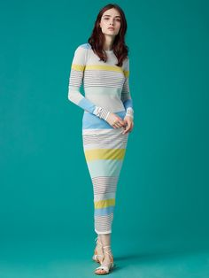 Color Block Knit Dress | by DVF