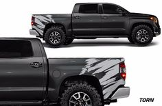 Toyota Tundra 2014 2016 Truck TRD Part Custom Rear Decal Wrap Torn Silver Vinyl | eBay