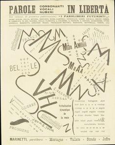 Filippo Tommaso Marinetti – L'immaginazione senza fili, parole in libertà, 11 maggio 1913.