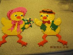 Easter chicks hama beads by  jeatut