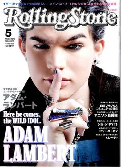 (May 2010, Japan) Adam Lambert on the cover of 'Rolling Stone' Japan Edition