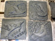 Clay Tiles Art Project | ... of tiles from clay slabs, children formed their own sea life tiles