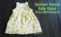 Summer Breeze Baby Dress {Free PDF Pattern} size 3-6 months