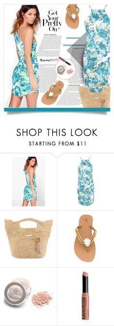"""Pretty Tropical Print Dress"" by diane-888 ❤ liked on Polyvore featuring Boohoo, Heidi Klein, Giuseppe Zanotti, NYX, Summer and tropicalprint"