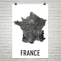 France Map, Map of France, French Art, French Decor, French Print, French Poster, French Wall Art, French Gifts, French Map, France Print  URL : http://amzn.to/2mOD07b 50% Discount Code :  QP4BKMDQ