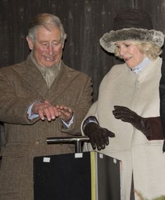 Prince Charles, Prince of Wales and Camilla, Duchess of Cornwall switch on the Christmas lights on 7 Dec 2012 in Tetbury
