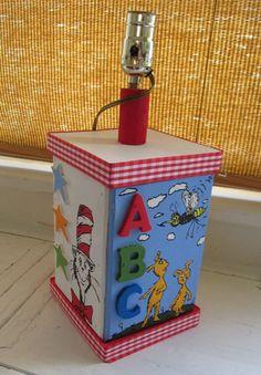 Dr. Seuss Inspired Custom Lamp For Nursery Or Kids Room. $104.00, Via Etsy