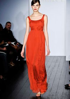 orange bridesmaid dress <<< this but shorter, i like