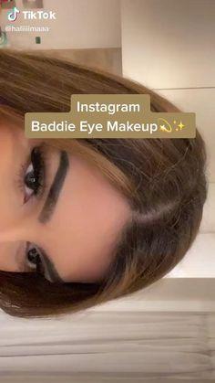 Cute Makeup Looks, Makeup Looks Tutorial, Makeup Eye Looks, Eye Makeup Art, Pretty Makeup, Skin Makeup, Makeup Tips, Beauty Makeup, Baddie Makeup