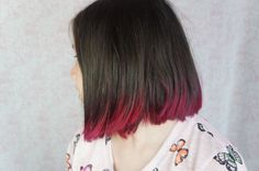 Bob (or lob) with pink ombre.