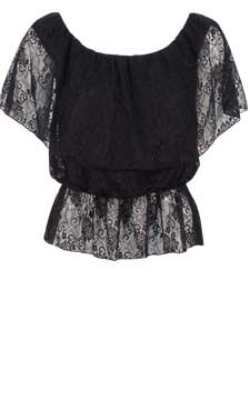 Lace Dolman Sleeve Top