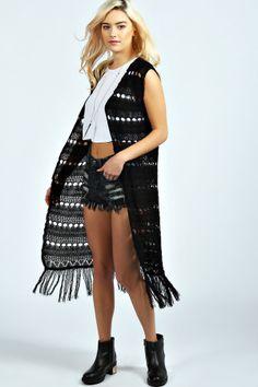 Boohoo Tammi Tassel Crochet Waistcoat on shopstyle.com