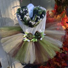 Items similar to Camo Outfit Tutu on Etsy Tutu Dresses, Tutu Outfits, Tulle Dress, Cute Camo Outfits, Camo Tutu, Halloween Tutu Costumes, Soldier Party, Welcome Home Soldier, Tutu Ideas