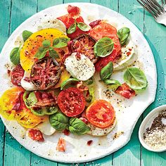 A delicious twist on a summer classic! Hot Bacon Caprese Salad - add to your Cozi Recipe Box