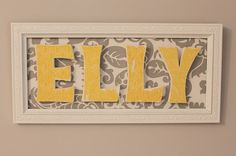 DIY name board..Just need to change the name and colors!
