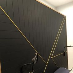Brass Lined Feature Wall