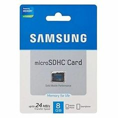 Samsung MB-MS8G MicroSD 8 GB Memory Card 8gb best for samsung mobile class 4