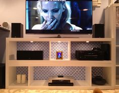 Sarah's Simple Yet Stylish IKEA Hack 'n Stack TV Stand — IKEAhackers