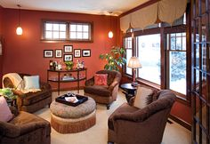 Rustic Orange Paint Color   ... our hauthaus remodel and furnishings projects with warm color schemes