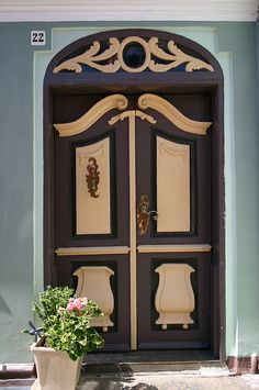 A wonderful example of how one can mix and match color within a single door system. (949-251-1866)