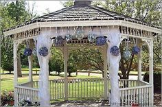 Fancy Wedding Gazebo Decorations For A Fun And Fancy Wedding Setup Wedding Set Up, Wedding Prep, Rose Wedding, Wedding Ideas, Gazebo Wedding Decorations, Wedding Gazebo, Wedding Dress Cake, Garden Gazebo, Wedding Places