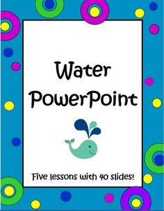 This Water PowerPoint is a set of 5 lessons with 40 slides, to help you teach your science students everything they need to know about water. The pictures on each slide are engaging, the text is easy to read and a teacher's key in included as well. This Water PowerPoint could be used as a teaching lecture supplement or as a student review. Suggested grades 3 - 6,