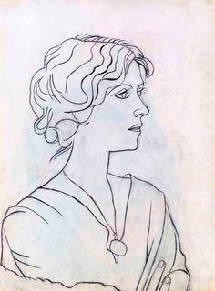 ARTISTIC QUIBBLE |  Pablo Picasso - Portrait d'Olga, 1920. Pencil on...