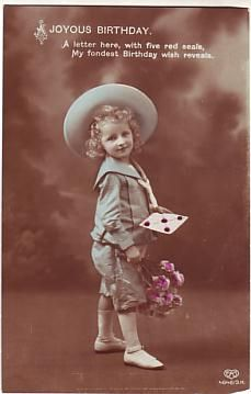 E A Schwerdtfeger Postcard - A Joyous Birthday c1913