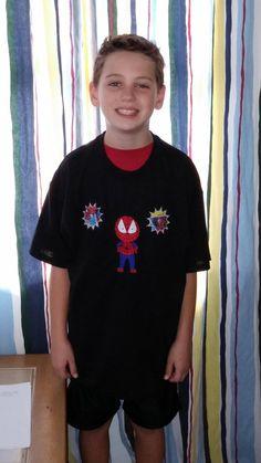 Spiderboy Inspired by Spiderman Tshirt by stitchcottage on Etsy, $22.00