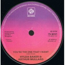 """7"""" 45RPM You're The One That I Want/Save Your Kisses For Me by Hylda Baker & Arthur Mullard from PYE Records (7N 46121)"""