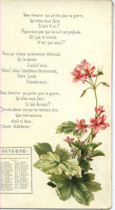 Alfred de Musset 1903 calendar (TuckDB Ephemera)