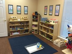 Doll houses, doll families, animals, dress up clothes and a tray of sand are staples in a play therapy room. www.pamdyson.com