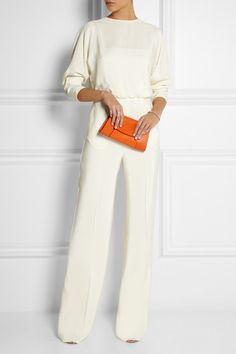 9a761541bd Handmade Bright-orange textured-leather (Calf) Detachable adjustable  shoulder strap Concealed gold