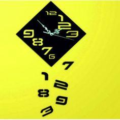 Moderné nalepovacie hodiny padajúce čísla , farba čierna .