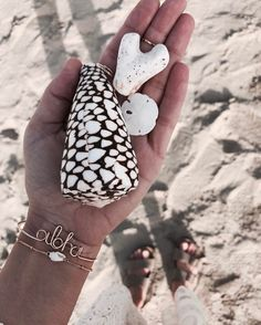 "1,080 Likes, 23 Comments - JAMES MICHELLE (@jamesmichelle) on Instagram: ""seashells are L O V E letters in the sand  • shop our new aloha bracelet #JAMESMICHELLE"""