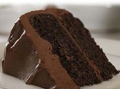 Sour Cream Chocolate Cake: A moist with sour cream and a thick layer of rich buttery frosting. Try this and you wont regret it. A moist chocolate cake with sour cream and a thick layer of rich buttery frosting. Try this and you wont regret it. Sour Cream Chocolate Cake, Death By Chocolate Cake, Chocolate Cake Recipe Easy, Chocolate Desserts, Chocolate Frosting, Chocolate Chips, Homemade Chocolate, Baking Chocolate, Chocolate Chocolate