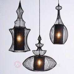 Weelderige hanglamp SWING IRON TRE veilig & makkelijk online bestellen op lampen24.nl