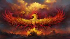 Fantasy Phoenix  Artistic Bird Fire Wallpaper