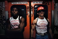 Guardian Angels on the NYC subway, early 1980s. - Imgur
