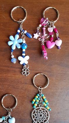 Handmade Keychains, Handmade Jewelry, Ring Crafts, Jewelry Crafts, Resin Jewelry, Beaded Jewelry, Jewellery, Beaded Bookmarks, Beaded Crafts