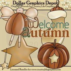 Welcome Autumn - Clip Art