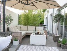Unsere Terrasse und der Kubus Kerzenständer by Lassen