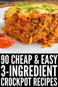 These dinner recipes will inspire you on busy evenings, and we've included options for meat lovers, vegetarians, and crockpot afficiandos! Crockpot Recipes For Two, Dinner Recipes Easy Quick, Crockpot Dishes, Easy Healthy Dinners, Easy Healthy Recipes, Cooking Recipes, Easy Dinners, Vegetarian Crockpot Recipes, Crockpot Recipes For Chicken