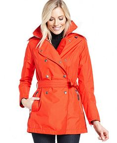 Helly Hansen Double-Breasted Trench Coat - Jackets & Blazers - Women - Macy's